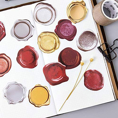 Creatieve Leuke Wax Seal Pvc Decoratie Stickers Diy Dagboek Sticker Scrapbooking briefpapier Stickers School benodigdheden45 stks/partij