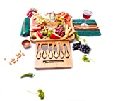 Miro Tabla de quesos de bambú y acacia, idea de regalo de lujo para cenar y comida gourmet