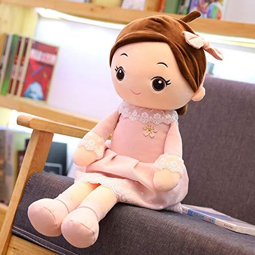 letaowl Muñeca de trapo de peluche para niña, juguetes Kawaii, muñecas con vestido de princesa de peluche, juguetes de peluche para boda, muñeca de trapo de bebé, para niños, 50 cm, color rosa