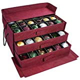 Christmas Ornament Storage Box with 3 Slide Out Trays, Adjustable Acid-Free Dividers, 20 Inch x 14 Inch x 10 Inch, Holds 72 - 3 Inch Ornaments