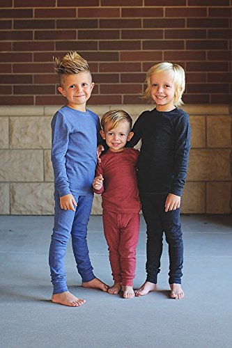 City Threads Little Boys Thermal Underwear Set Perfect for Sensitive Skin SPD Sensory Friendly Base Layer Thermal Wear Cotton Ski Clothing for Kids Comfortable Ultra Soft, Elf Green- 3T