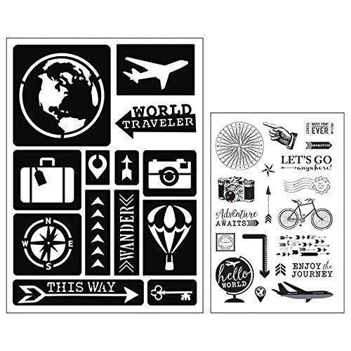 Cart Art-C Reisestempel und Haftschablone Set