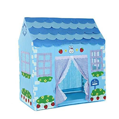 Tents Pokój zabawkowy dla przedszkola, kreskówka truskawkowy ogród niebieski domek do zabawy dla dzieci przenośny duży zabawny domek do zabawy (kolor: Niebieski, rozmiar: 100 * 60 * 112 cm)
