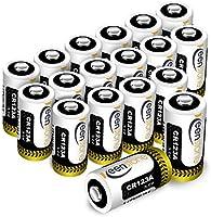 Keenstone Batteria CR123A 18pcs 1600mAh CR123A Batteria al Litio Non Ricaricabili per Flashlight, Fotocamera Digitale,...