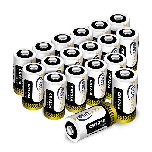 Cr123A 3V Pilas, Keenstone 18Pcs 1600Mah Metal de Litio Batería Cr123A 3V - Para la Linterna Cámara Digital...