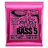 Ernie Ball Super Slinky - Cuerdas para bajo eléctrico, 5 cuerdas, níquel -...