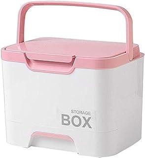AINIYF Drug Box Storage Box Small Medicine Box Storage Box Multi-Layer First Aid Kit Medicine Storage Box (Color : Pink)