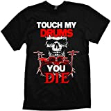 Touch My Drums Drummer t-Shirt from The Richard Roberts Collection Black
