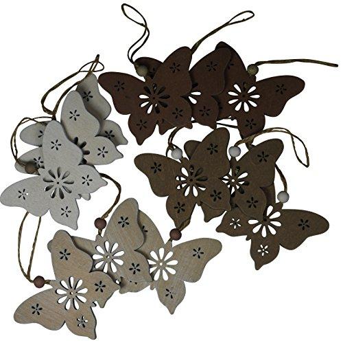 khevga 12 Deko Schmetterling Hänger Vintage 12er Set