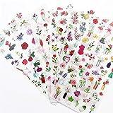 PMSMT 6 unids/Set Flores Pegatinas Niños Pegatinas Juguetes para Niños Lindo Pegatina Refrigerador DIY Scrapbooking Diario Cuaderno Decoración para el hogar