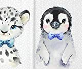 Panel French Terry Snow Babys Leopard & Pinguin BioBunt