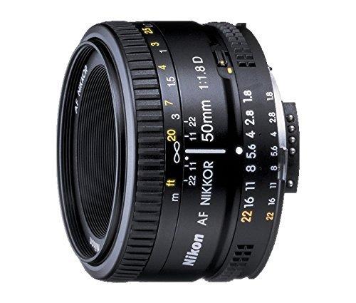 Nikon AF FX NIKKOR 50mm f/1.8D Lens for Nikon DSLR Cameras (Renewed)