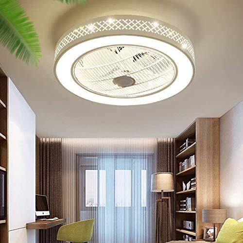 WOERD Ventilador de Techo con Luz Moderna Lámpara de Techo con Control Remoto Sala De Estar Silenciosa Regulable Dormitorio Velocidad De Ventilador Ajustable Ventilador De Techo Luz