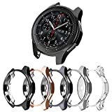 [5-Pack] Protector Case Compatible with Samsung Galaxy Watch 46mm and Gear S3 Frontier Classic,Soft TPU Plated Protective Cover Ultra Thin Bumper Shell Smartwatch Accessories (5 Colors, 46MM)