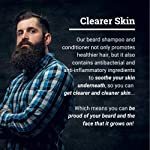 Beard Shampoo and Conditioner Set - Beard Wash and Conditioner for Men with Biotin & Tea Tree - Mens Best Beard… 6