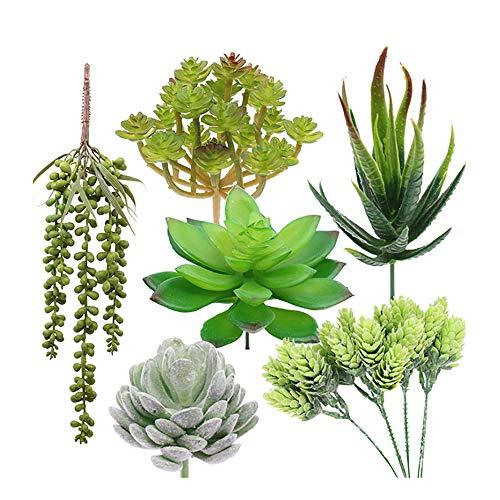 6 Pcs Fake Succulents