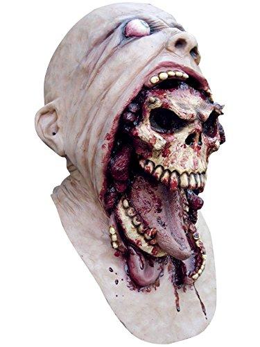 Máscara de calavera sangrienta adulto Halloweeen