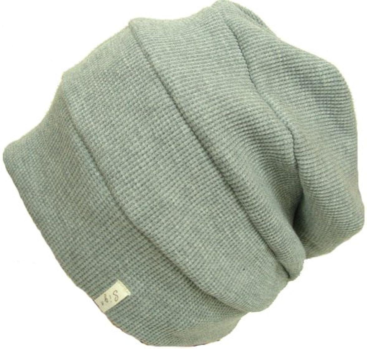 室内帽子 オーガニックコットンワッフル段々ワッチ 杢グレー SIGN サイン NOC認定商品
