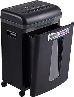 紙文書シュレッダー商業用機密シュレッダーサイレントオフィス用家庭用破砕機自動シュレッダー二重入り口折れCD、カード (Color : Black, Size : 35*26*56.5cm)