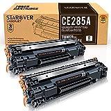STAROVER Compatible con Cartucho de tóner CE285A de Repuesto para HP CE285A 85A para HP Laserjet Pro P1102W P1102 M1132MFP M1217NFW M1212NF HP M1132 P1100 M1136 M1210 M1212 M1213NF (Paquete de 2)