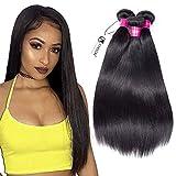 Malaysian Straight Hair 3 Bundles 14 16 18inch Virgin Straight Human Hair Bundles Natural Black Color Hair Weave
