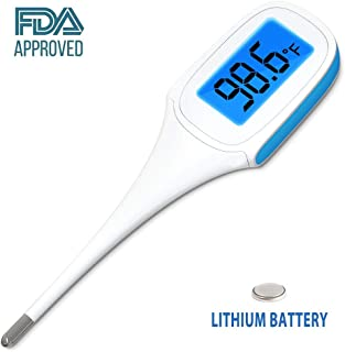 JASUN Oral Thermometer Fast Reading Rectal and Armpit Thermometer for Baby and Adults with Fever Indicator with FDA and CE Approved