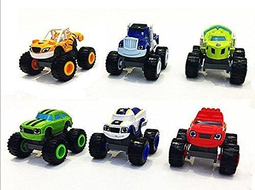 Jingyuan Transformers Blaze the Monster Machines - Juego de 6 piezas de juguete para coches de camión