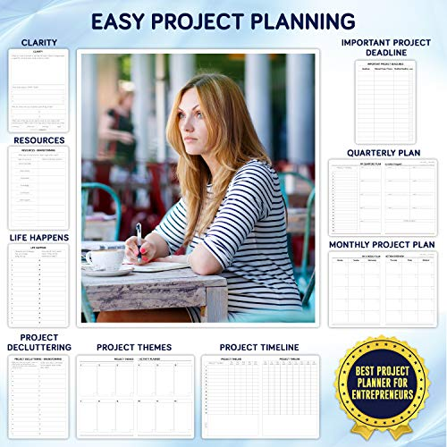 Product Image 6: Business Planner Undated for Entrepreneurs! Focus Project Notebook for Productivity! Best Daily Weekly Self Organizer Planner / Win the Day! Beat Procrastination! Ifocus – A5 work planner
