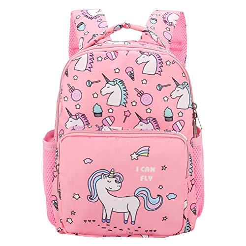 Mochila Niña BETOY Mochila Unicornio Niños,Mochila para niñas Bolso Escolar Unicornio Niños Lindos Ligero Escuela Secundaria Intermedia Bolsas de Libros (Rosa)