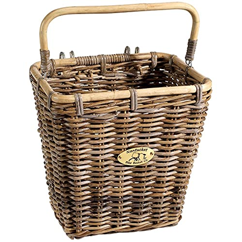 Nantucket Bicycle Basket Co. Tuckernuck Pannier Basket with Hooks,...