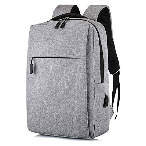 Unycos - Laptop Backpack - Waterproof Backpack with USB Port for Men or Women (Grey)