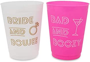 Decorations Supplies Shes Tying The Knot Bachelorette Party Cups by Stag /& Hen | Beach Bachelorette Party Cups 16 oz 15 Pack With Bonus Cup For The Bride Tropic Like Its Hot