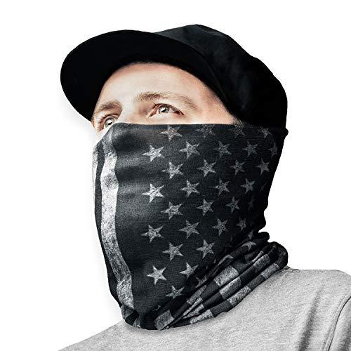 American Flag Face Mask Gaiter | America Flag Bandana for Men. Seamless Gaiter for Dust, Sun, Heat Protection - Thin, Breathable Outdoor, Running Bandana for Men & Women