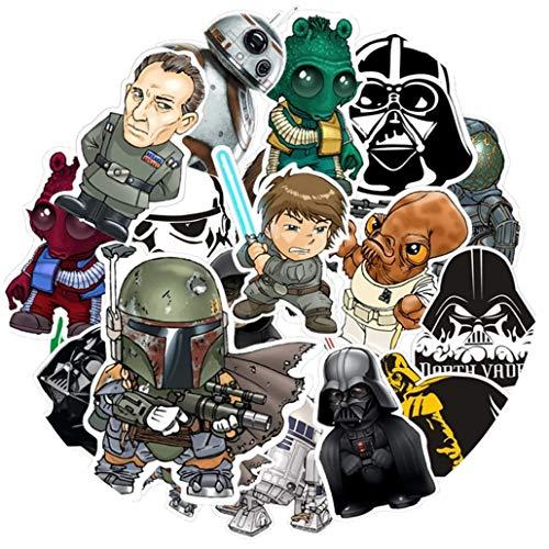 Top Aufkleber! Set von 35 Star Wars Aufkleber Premium Qualität - Vinyls Stickers Nicht Vulgär – Fashion, Stil, Bombe, Graffiti - Anpassung Laptop, Gepäck, Motorrad, Fahrrad, Skateboard