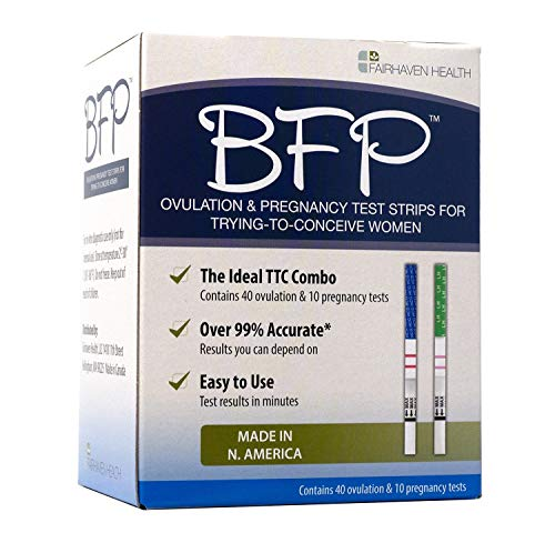 BFP Ovulation & Pregnancy Test Strips, Made in N. America, 40 LH Ovulation & 10 hcg Pregnancy Tests - Early Predictor Kit for Fertility