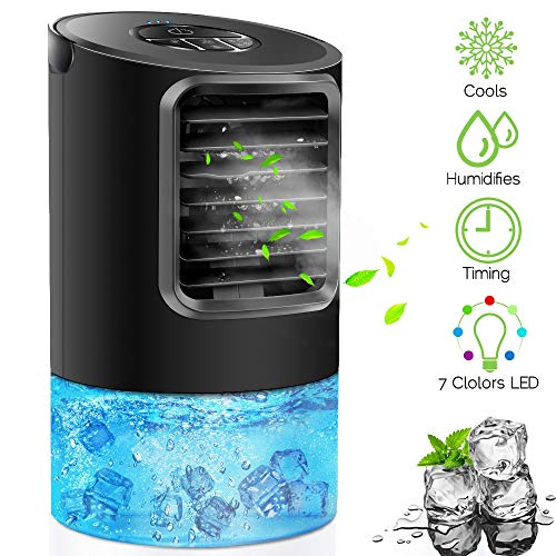 Portable Air conditioner Fan, KUUOTE Personal Space Air Cooler Quiet Desk Fan Mini Evaporative Cooler