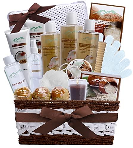 Hibiscus & Coconut Milk Bath & Body Spa Gift Basket for Women....