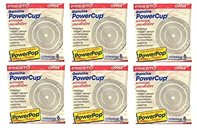 Presto 09964 Microwave Power Pop Powercup Popcorn Concentrator Cup - 48 Pack