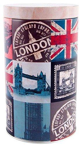 AVENUELAFAYETTE Pot Boîte métal Vintage rétro London - Londres - 19 cm