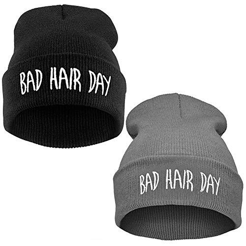 BESLIME Invierno, Gorro de Lana, Bad Hair Day, Sombreros de Invierno Hombre,...