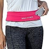 Build and Fitness Cinturón de Correr y Aptitud cinturón, Funda cinturón con Clip para Llaves, Adapta tu iPhone 6,7,8 Plus, X. Unisexo. para Gimnasio