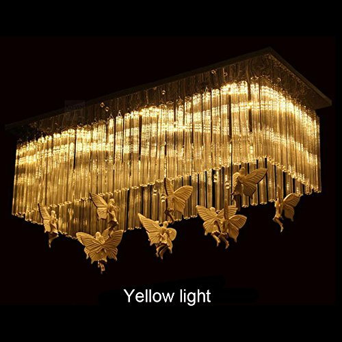 William 337 Rechthoekige restaurant kroonluchter LED dining room lights creatieve Angel Butterfly Decoratie Modern Simple