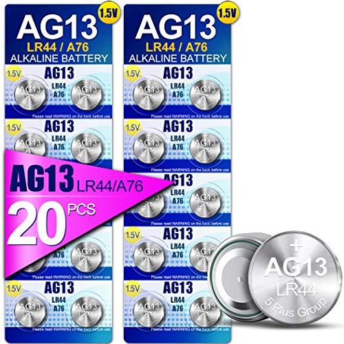 5Plus Group 20 PCS LR44 AG13 357 303 SR44 A76 Battery 1.5V Button Coin Cell...