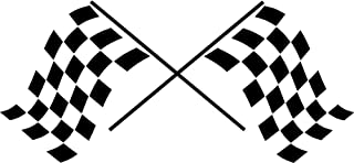 Lplpol Checkered Racing Flags Vinyl Wall Decal Stickers Office Garage Room Decor