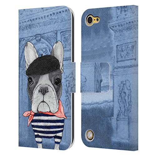 Head Case Designs Officially Licensed Barruf French Bulldog Dogs Leather Book Wallet Case Cover Compatible with Apple iPod Touch 5G 5th Gen