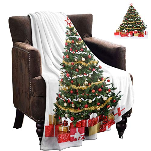 LanQiao Manta para sofá, caja de regalo bajo el árbol de Navidad, para amigos, 228,6 x 177,8 cm