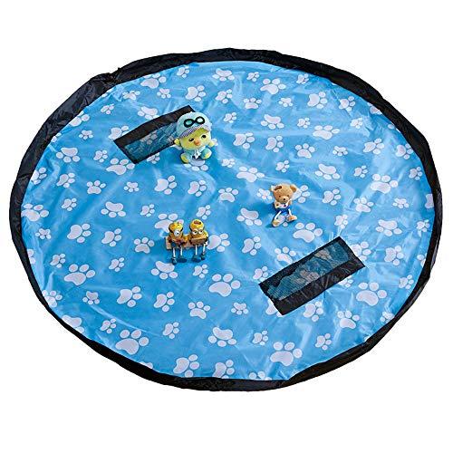 150cm Sac de rangement Jouet, Enfants Tapis de Jeu Sac de Rangement Pliable Grand Tapis de jouets Jouets pour Enfant,Peut être utilisé pour la plage, le camping, les tapis de pique-nique