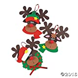 Foam Reindeer Holiday Ornament Craft Kit - Pack of 12 Kits