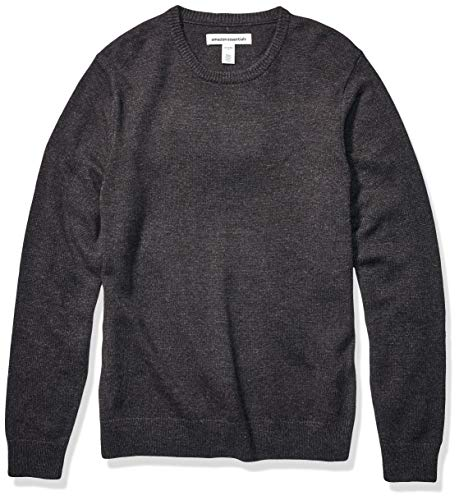 Amazon Essentials Men's Midweight Crewneck Sweater, Charcoal, Large