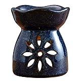 Ceramica Bruciatore Di Oli Essenziali, Olio Bruciatore Di Candela Aromaterapia Stufa, Decorazione Domestica Dell'ufficio,Black